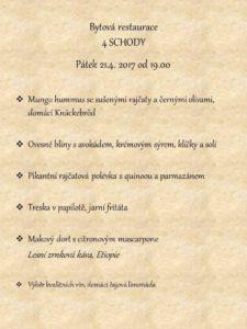 4 schody menu